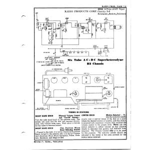 Radio Products Corp. 6-Tube AC-DC Super