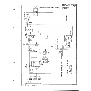 Radio Products Corp. 6-Tube AC Super