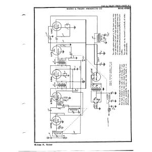 Radio & Telev. Products Co. 47602