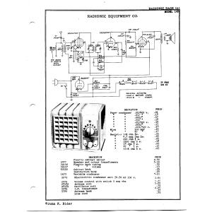 Radionic Equipment Co. 14-B
