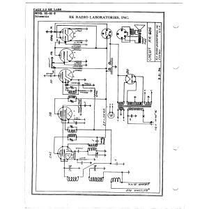 R.K. Radio Laboratories, Inc. RK-60 G