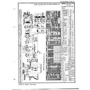 Rudolph Wurlitzer Co. 416 AC