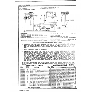 Sears Roebuck & Co. Wireless Record Player
