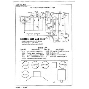 Sheridan Electronics Corp. 554R