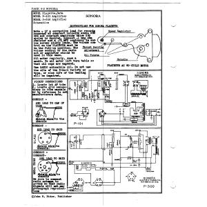 Sonora Phonograph Co., Inc. Pllayette