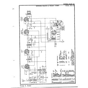 Sonora Radio & Telev., Corp. EA-33