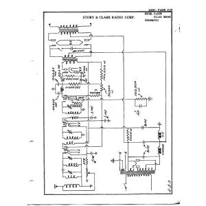 Story & Clark Radio Corp. Clock Model