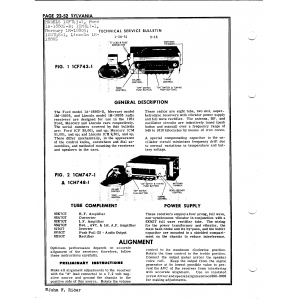 Sylvania Electric Products 1CM747-1