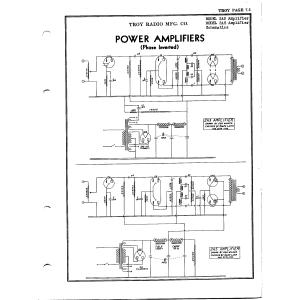 Troy Radio & Telev. Co. 2A5 Amplifier