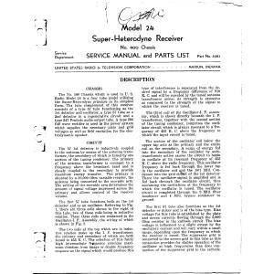 U.S. Radio & Television Corp. 24- Service Manual