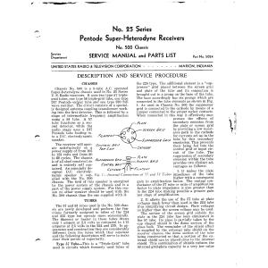 U.S. Radio & Television Corp. 25-Service Manual