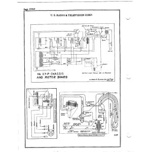 U.S. Radio & Television Corp. 27-P Chassis