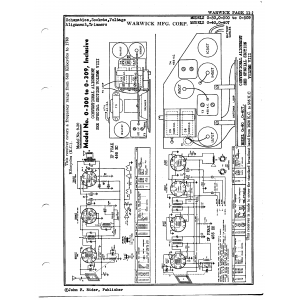 Warwick Mfg. Corp. 0-300