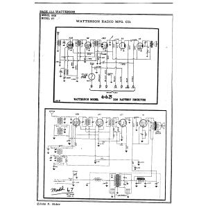Watterson Radio Mfg. Co. 66B