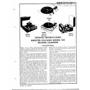 Webster Electrical Corp. 100-62