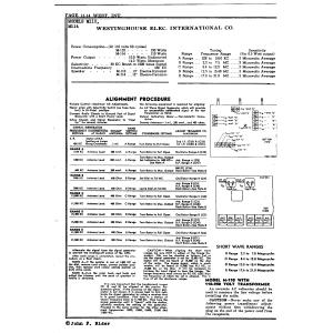 Westinghouse Elec. International Co. M110