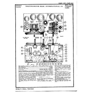 Westinghouse Elec. International Co. WR102