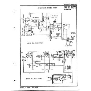 Westone Radio Corp. 34, 4-Tubes