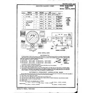 Zenith Radio Corp. 10H571R