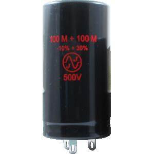 Capacitor - JJ Electronics, 500V, 100/100µF, Electrolytic