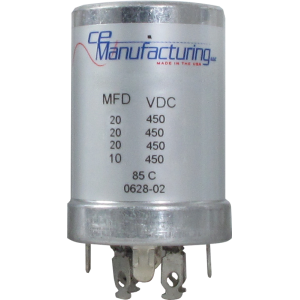 Capacitor - Electrolytic, 20/20/20/10 µF @ 450 VDC