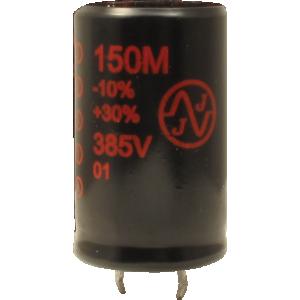 "Capacitor - Electrolytic, 100 µF @ 385 V, 7/8"" x 1-5/8"", JJ Electronic"