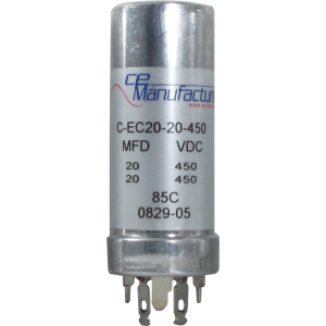 Capacitor - CE Mfg., 450V, 20/20uF
