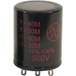 Capacitor - JJ Electronics, 500V, 40/20/20/20µF, Electrolytic