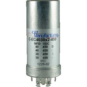 Capacitor CE PC Mount 40//40//40//40uF 525VDC Electrolytic