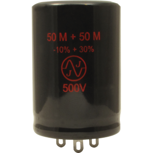 Capacitor - Electrolytic, 50/50 µF @ 500 VDC, JJ Electronic