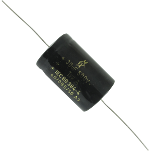 Capacitor - F&T, Made in Germany, 30 µF @ 500 VDC, Axial