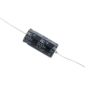 Capacitor - Illinois, 500V, 47µF, Axial Lead Electrolytic