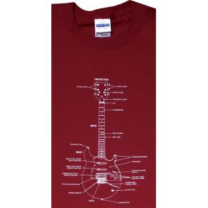 Shirt - Cardinal Red with Guitar Diagram