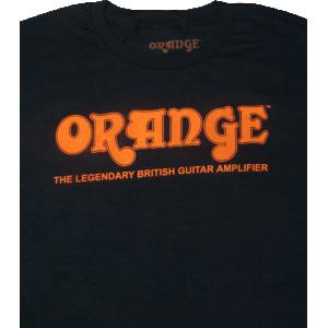 T-Shirt - Orange Amps, Black Retro