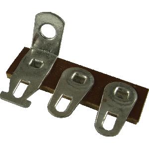 Terminal Strip - 3 Lug, 3rd Lug Common, Horizontal, package of 5