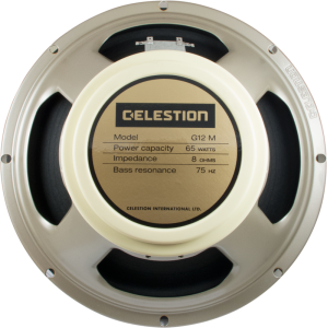 "Speaker - Celestion, 12"", G12M-65 Creamback, 65 watts"