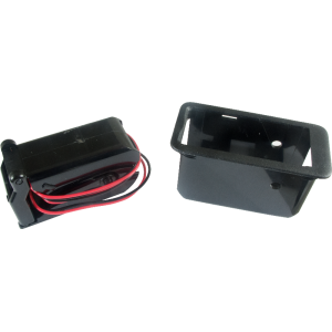 Battery Box - Gotoh, single, 9 volt, with removable adapter