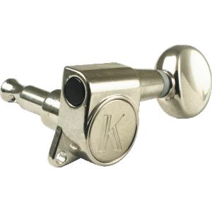 Machine Head - Kluson, 6/line, Nickel, Contemporary Diecast
