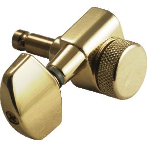 Machine Head - Kluson, 3+3, Locking, Gold, Large Metal Button