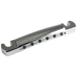 Tailpiece - Kluson, Lightweight Aluminum, Chrome w/ Steel Studs