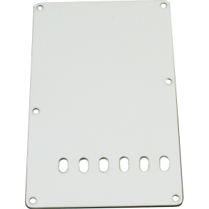 Backplate, Stratocaster 3-ply white
