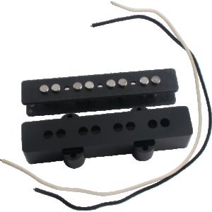 Pickup Parts Set - J-Bass, Neck, Black Cover