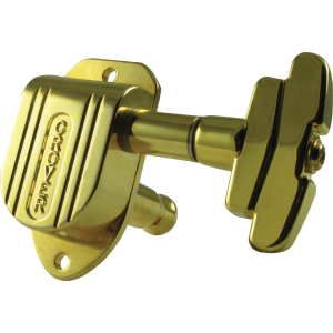 Tuning machine - Grover Imperial, 3 per side, gold