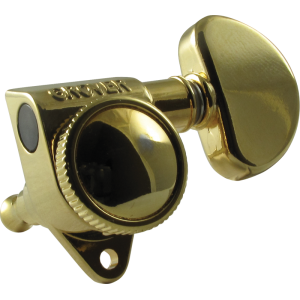 Tuning machine - Grover Rotomatic Roto-Grip locking, 3 per side, gold