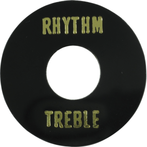 Switchwashers - Rhythm, Black with Gold Lettering, for Les Paul