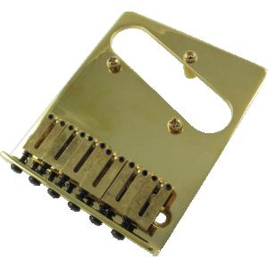 Bridge, Fender® American Telecaster, 6 saddle, gold