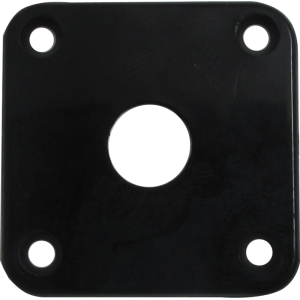 Jack plate - Black Plastic, Fits Les Paul