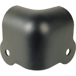 Corner - Black steel, 2-Hole, 18 Gauge, Notched
