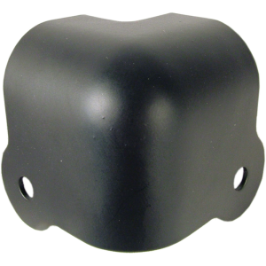 Corner - Black Steel, 2-Hole, 18 Gauge, Wraparound, Lip
