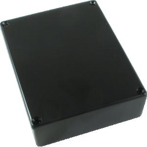 Chassis Box, Die-Cast Aluminum, Black